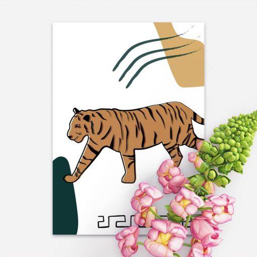 Plakat z motywem tygrysa do dekoracji salonu