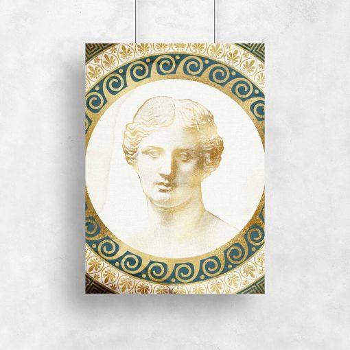 Plakat rzeźbą rzymianina