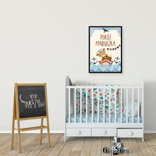 Marynistyczny plakat personalizowany do pokoju dziecka