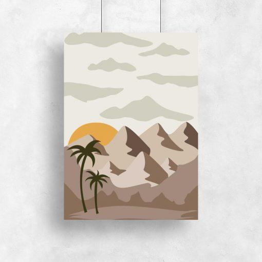 Plakat z krajobrazem pustynnym