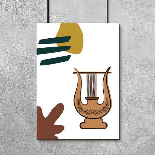 Plakat z antyczną lirą