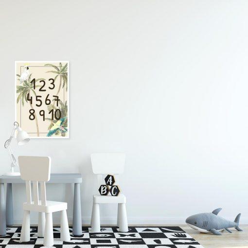 barwny plakat do pokoju dziecka