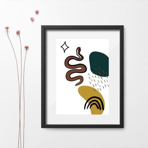Plakat z motywem węża