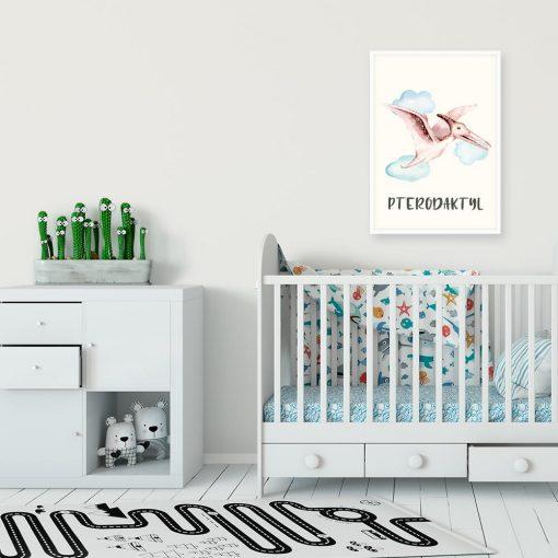 Pterodaktyl - Plakat dydaktyczny do przedszkola