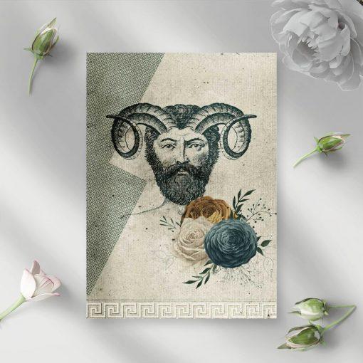 Plakat z greckim bóstwem - satyrem