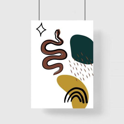 Plakat nieforemne plamy oraz wąż
