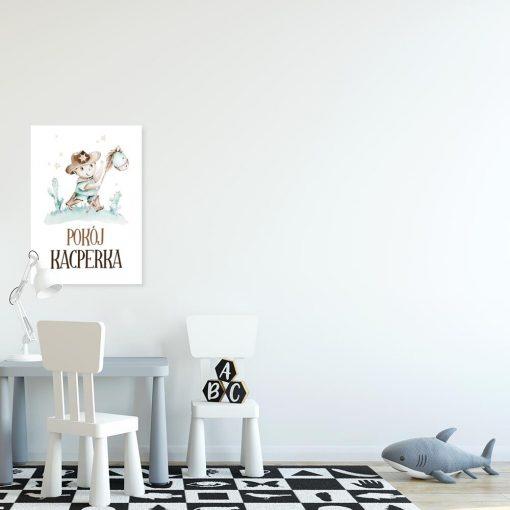 Plakat z imieniem dla przedszkolaka- Kowboj