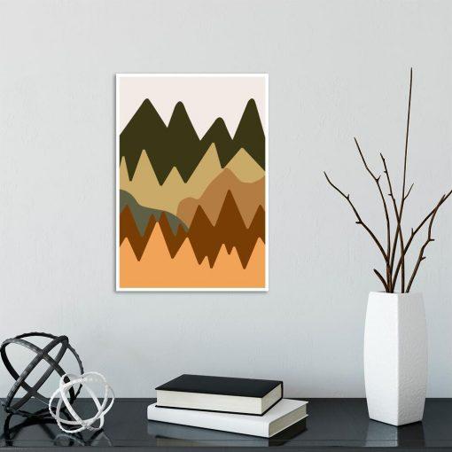 Zielono-pistacjowe góry - Plakat do sypialni