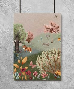 Barwny plakat dla dziewczynki - Leśna polana