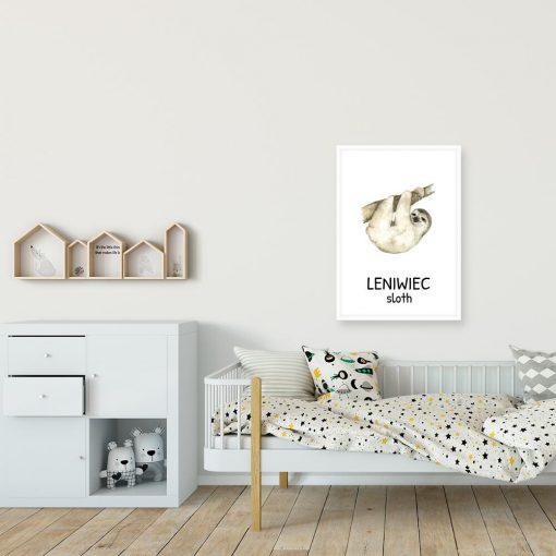 plakat do pokoju rodzeństwa - sloth