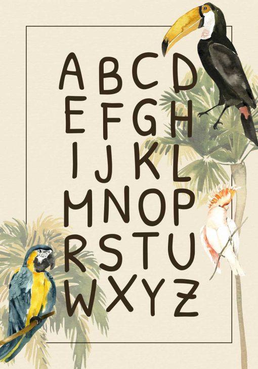 Dydaktyczny plakat dla dzieci - Alfabet