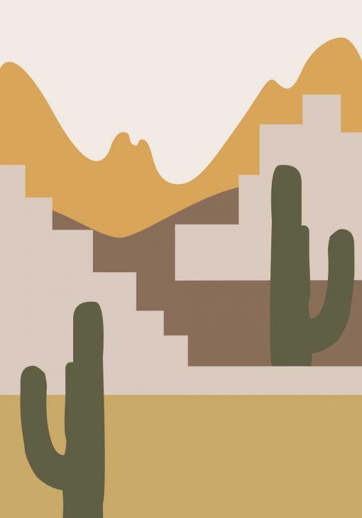 Plakat chilijska pustynia