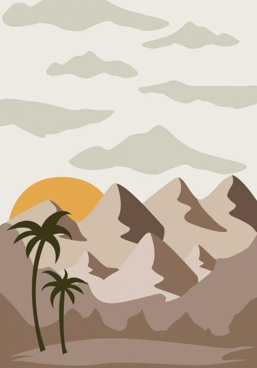 Plakat do biura z palmami
