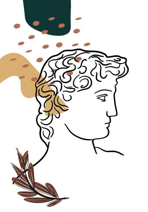 Plakat z narysowaną głową Dawida