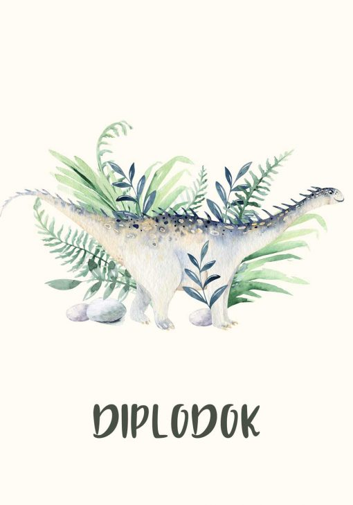 Plakat dla chłopca - Diplodok