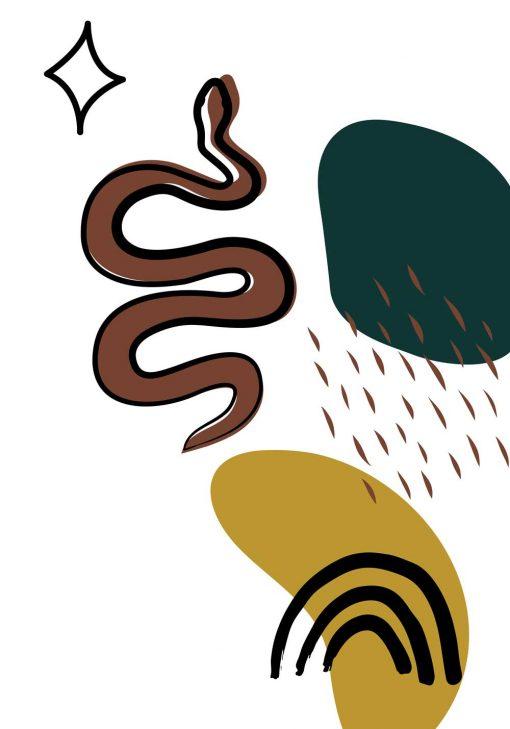 Plakat przedstawiający węża