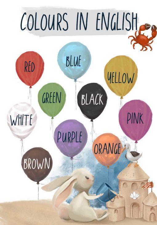 Edukacyjny plakat dla dzieci - Kolory