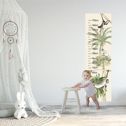 Palmy - Miarka wzrostu do pokoju dziewczynki