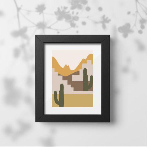 Plakat do oprawienia z kaktusami