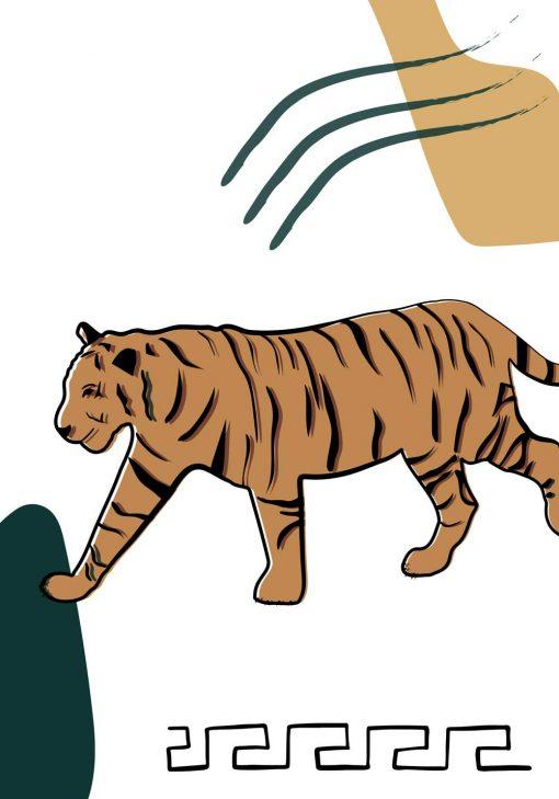 Plakat z tygrysem do powieszenia w biurze