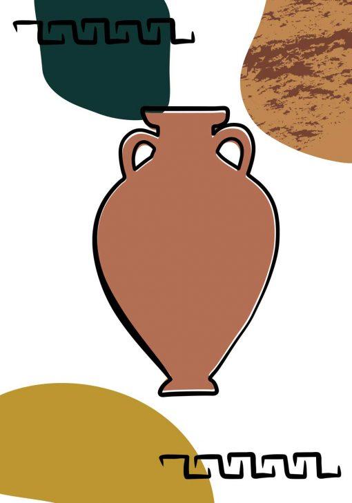 Plakat z grecką wazą z okresu Antyku
