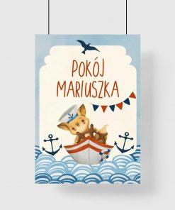 Marynistyczny plakat personalizowany dla chłopca