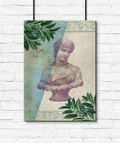 Plakat rzeźba kobiety z okresu Antyku