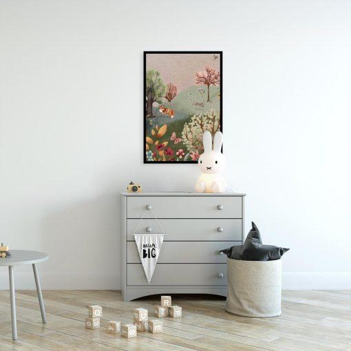 Kolorowy plakat dla dzieci - Leśna polana