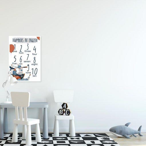 Dydaktyczny plakat z cyferkami do przedszkola