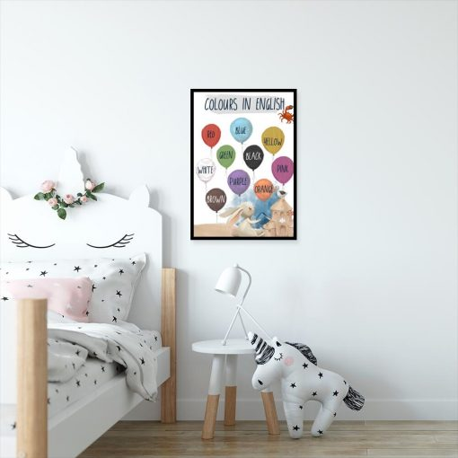 Dydaktyczny plakat do pokoju dziecka - Nazwy kolorów