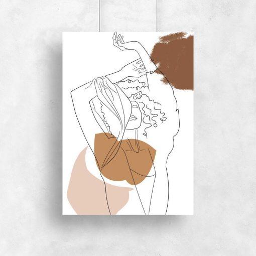 Zmysłowa dziewczyna - Plakat do salonu