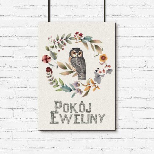 Plakat dla Eweliny z napisem pokój