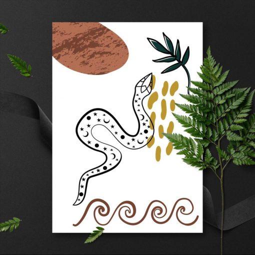 Plakat z motywem natury