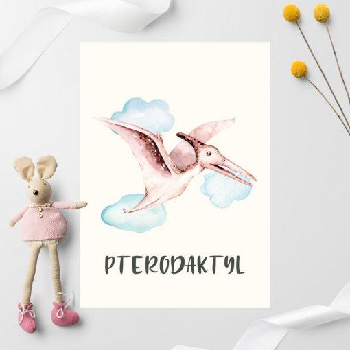 Pterodaktyl - Plakat dla dziecka