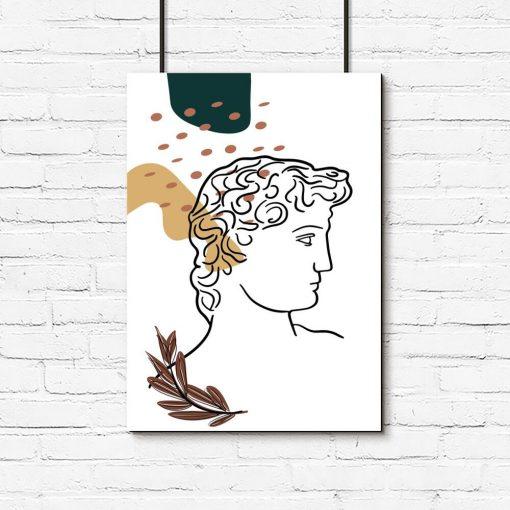 Plakat z dziełem M. Anioła - Dawid