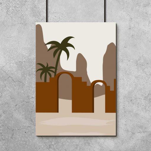 Zielona palma- Artystyczny plakat do salonu