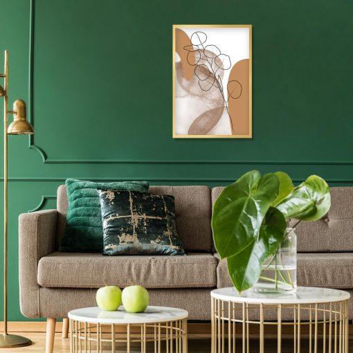 nowoczesny plakat do salonu - abstrakcja