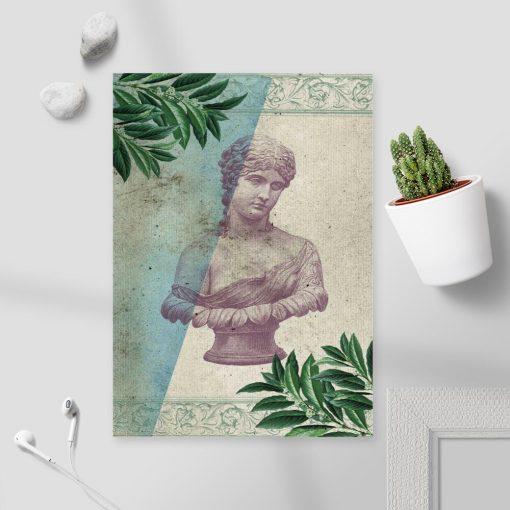 Plakat popiersie kobiety ze starożytnej Grecji