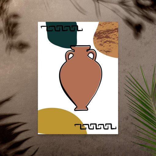 Plakat z zabytkową ceramiką