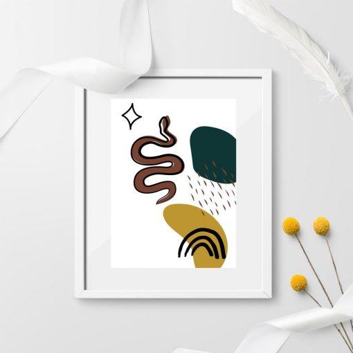 Plakat z wężem