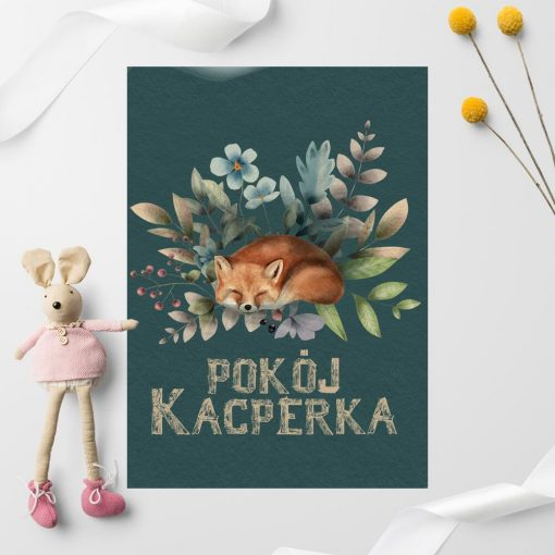 Plakat ze zwierzakiem do pokoju dziecka