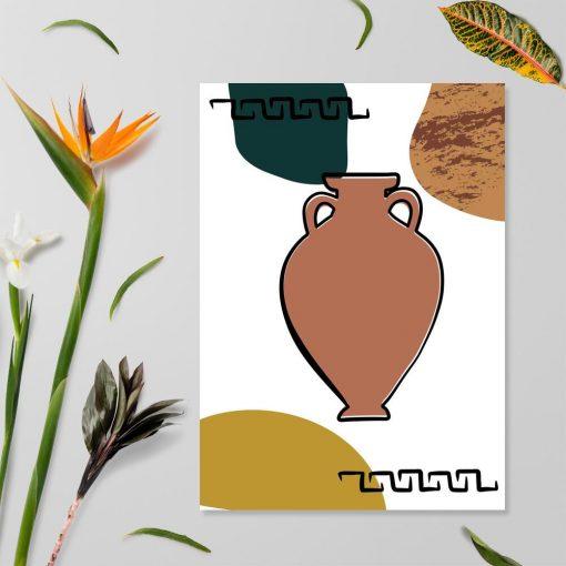 Plakat ze starożytnym naczyniem