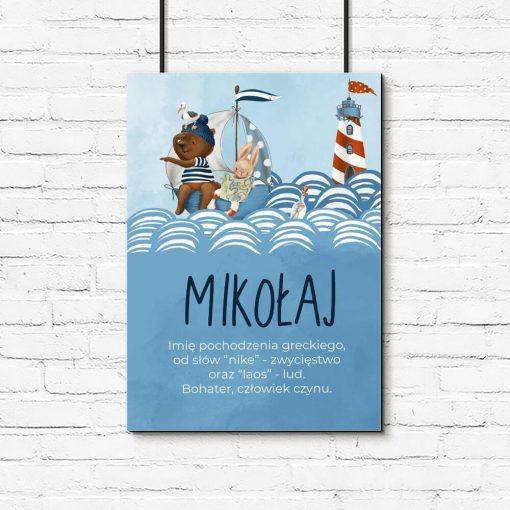 Plakat dziecięcy - Mikołaj