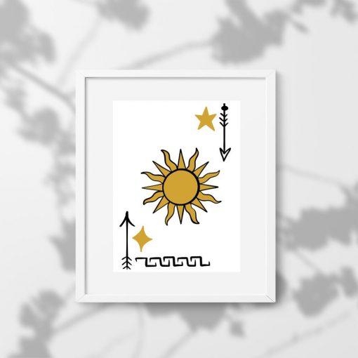 Plakat do oprawienia ze słońcem