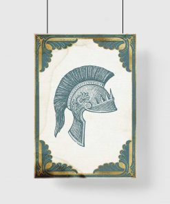 Plakat z hełmem centuriona