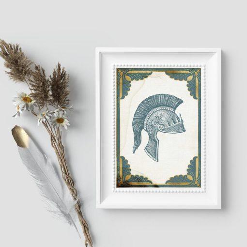 Plakat z hełmem setnika