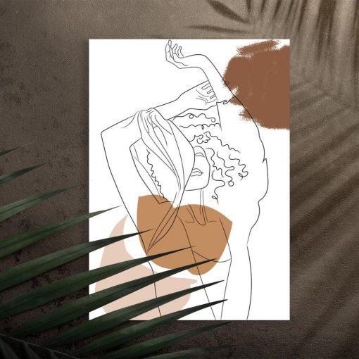 Dziewczyna z szalem - Plakat artystyczny