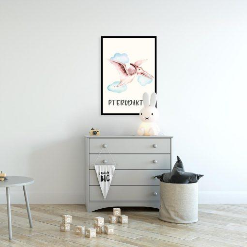 Dinozaur - Plakat edukacyjny dla dzieci