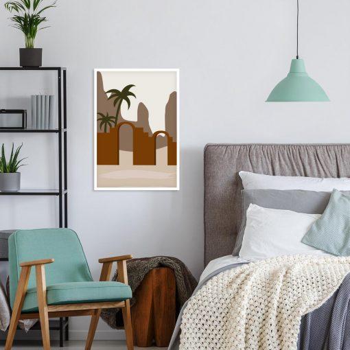 Zielona palma- Artystyczny plakat do sypialni