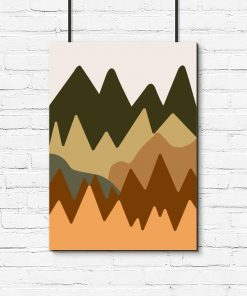 Beżowo-brązowa abstrakcja - Plakat do kuchni